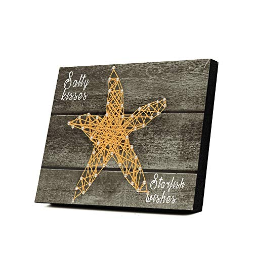3D DIY Nail String Art Kit Arts And Crafts For Adults, Starfish Pattern DIY 3D Drawing Nails Winding Lines Painting Art Kit, 5.91x7.87x0.79 inches