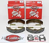 2 Sets WATER GROOVED FRONT BRAKE SHOES + SPRINGS for the 1989-1998 Yamaha YFM 350 Big Bear 2WD & 4WD