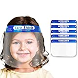 Kids Full Face Protective with Clear Vision Shields, Adjustable, Lightweight Reusable Children Anti Air Dust Eye Mouth Covering Transparent Breathable Windproof Dustproof Elastic Band (5PC)