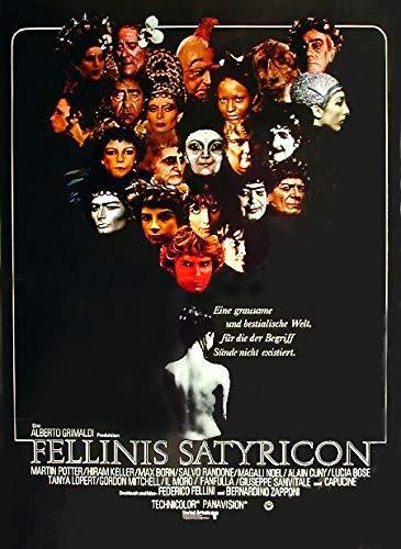 Fellinis Satyricon (1969) | original Filmplakat, Poster [Din A1, 59 x 84 cm]