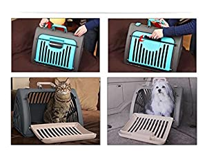 FOLDABLE STRONG PET CARRIER - HOLDS UP TO 11KG SMALL ANIMALS EASY ACCESS & STORAGE