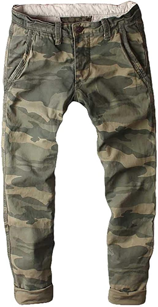 Camouflage Cargo Pants Men Tactical Skinny Fits Army Style Cotto