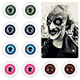 ZERHOK 10 piezas Ojos de Miedo Redondos Halloween Globos Oculares máscara de Terror cosplay Accesorio de Disfraz de calavera ojo realista para Halloween casa encantada vampiro zombi (20 mm)