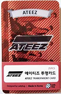 Ateez K-POP Transparent Photo Cards 25pcs �