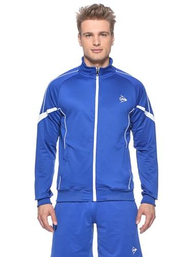 Dunlop Bekleidung Men–Knitted Jacket, Herren, blau/weiß, XXL