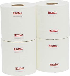 WypAll 94122 WypAll L10 Heavy Duty Perforated Centrefeed Wipers, White, 300m/Roll, Case of 4 Rolls, White 8.240 kilograms