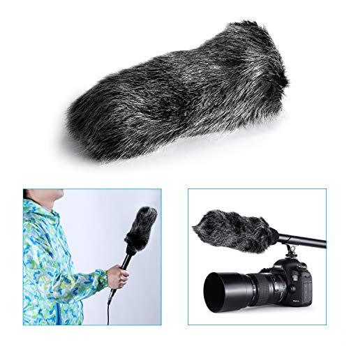 Neewer - Funda parabrisas de pelo sintético para micrófono de exterior