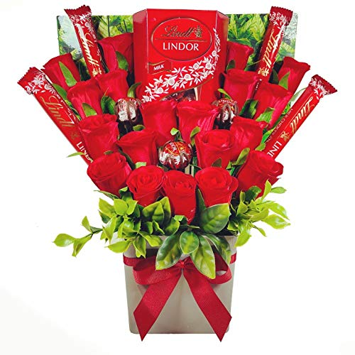 Large Lindt Lindor Chocolate Bouquet Gift Hamper in Presentation Box