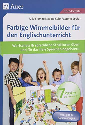 Farbige Wimmelbilder für den Englischunterricht: Mit 7 Postern Wortschatz & sprachliche Strukturen üben und für das freie Sprechen begeistern (1. bis 4. Klasse)