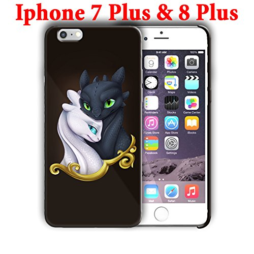 Hard Case Cover with Cartoon design for Iphone models (dragon8) (Iphone 7 Plus/Iphone 8 Plus 5.5in)