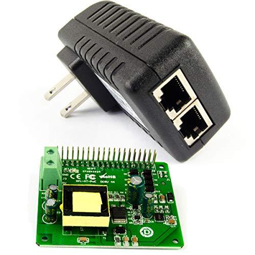 DSLRKIT Gigabit PoE Kit (20Watt PoE Hat + Gigabit PoE Injector) Power Over Ethernet for Raspberry Pi 4B 3B+ 3B Plus