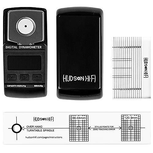 Hudson Hi-Fi Turntable Cartridge Stylus Alignment Protractor Kit - Vinyl Record Player VTA Azimuth Ruler - Turntable Stylus VTF Force Gauge - Turntable Phono Cartridge Stylus Alignment Protractor