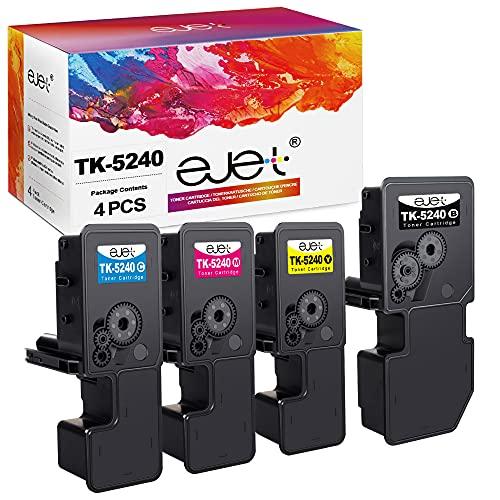 ejet TK5240 Cartucce di Toner compatibili per Kyocera ECOSYS TK-5240 per Kyocera ECOSYS M5526cdw, P5026cdn, M5526cdn, P5026cdw stampante(1Nero,1Cyan,1Magenta,1Giallo, 4 pezzi)
