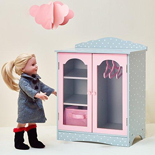Armario de Madera para muñecas 457 cm Juguete para Niños Olivias World TD-0210AG