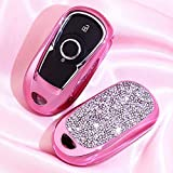 2 3 4 5 Buttons 3D Bling Smart keyless Entry Remote Key Fob case Cover for Buick Verano Regal Lacross Encore Envision Enclave GL8 2015 2016 2017 2018 Accessories Pink