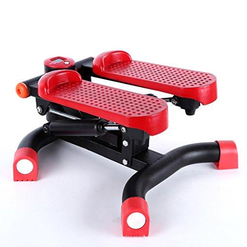 Stepper a doppio uso domestico muto Mini Gambe pedale Peso macchina perdita di arrampicata Thin macchina attrezzature fitness ( colore : Rosso )