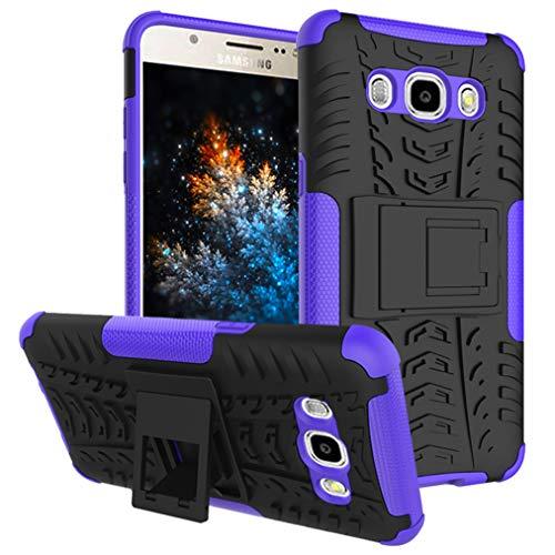MRSTER Samsung J2 Prime Funda, 2in1 Armadura Combinación A Prueba de Choques Escudo Cáscara Dura PC + TPU con Soporte Plegable para Samsung Galaxy J2 Prime