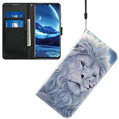 Sinyunron Klapptasche für Handy Wiko View 2 Pro Hülle Leder Handytasche Handyhülle Brieftasche Hüllen Hülle mit Kartenfach & Ständer/ZMT01P-0D