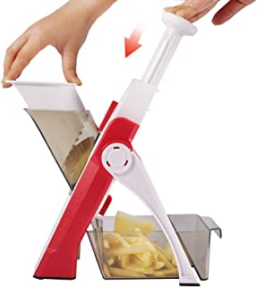ONCE FOR ALL Onion Food Chopper Vegetable Slicer Dicer Fruits Slicer Manual Mandoline Slicer Kitchen Stainless Steel Peele...