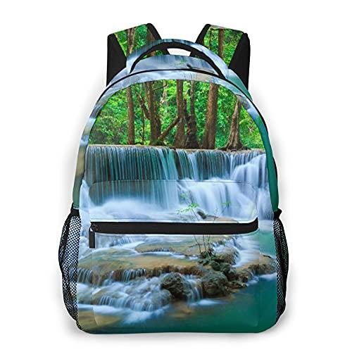 Alvaradod Mochila para portátil de viaje,cascada del bosque profundo,Kanchanaburi,Tailandia,mochila antirrobo resistente al agua para empresas,delgada y duradera
