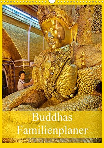 Buddhas Familienplaner (Wandkalender 2021 DIN A3 hoch)