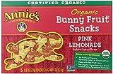 Annie's Organic Bunny Fruit Snacks, Pink Lemonade, 5 Pouches, 0.8 oz Each