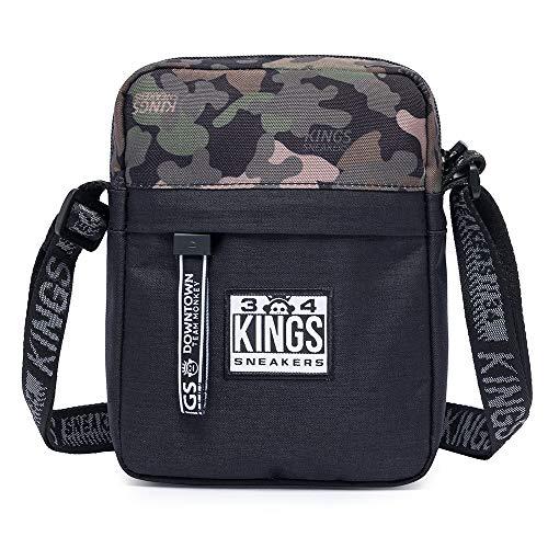 Shoulder Bag Bolsa Transvesal Kings Sneakers Estampa Camuflado Militar