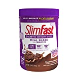 Slimfast Diabetic Weight Loss - Chocolate Milkshake Mix -10g of Protein - 12.8oz - Pantry Friendly
