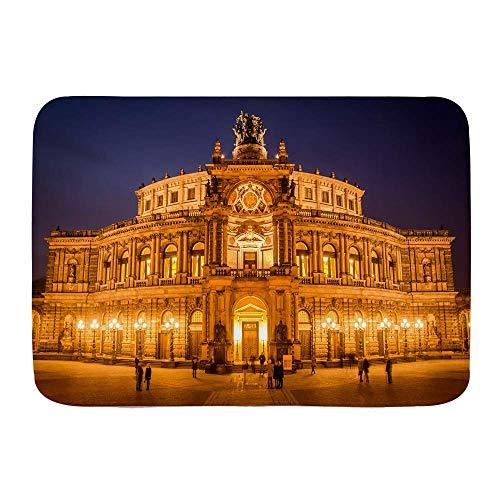 Mata do kąpieli, Opera House barokowa architektura Niemcy Drezno Arkady Pilastry taras przyciemniane światła, pluszowe maty łazienkowe z antypoślizgowym spodem