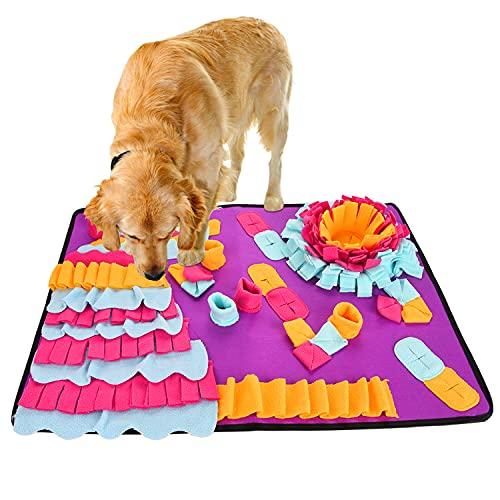 FORMIZON Schnüffelteppich Hunde, 50 x 70cm Futtermatte Trainingsmatte Intelligenzspielzeug, Hundespielzeug Trainieren Schnüffeldecke Waschbar rutschfest Faltbar Riechen Haustier Interaktives