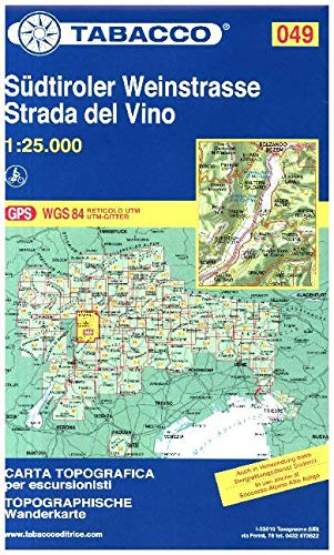 Tabacco Südtiroler Weinstrasse Strada del Vino 1:25.000: 049