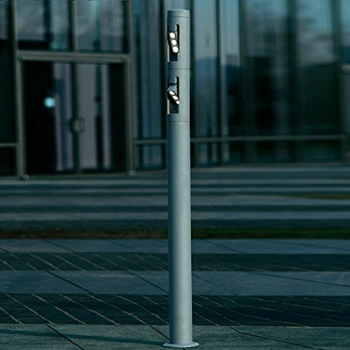 Borne lumineuse lED - 6 lumières cylin couleur: argent-dimensions: 157 x, ø 16 cm