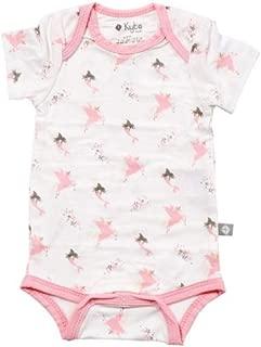 Organic Bamboo Rayon Bodysuit - Unisex Patterned Short Sleeve Baby Bodysuits