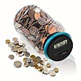 HeQiao Digital Large LCD Coin Bank for US Coins (Blue)