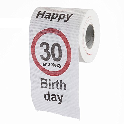 Goods & Gadgets Drôle Amusant Papier Toilette pour Les 30 Ans à Venir Papier Toilette Articles Cadeaux décoration d'anniversaire