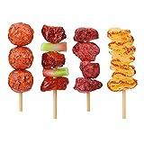 STOBOK Grill der Kinder 4pcs spielt realistisches Lebensmittel für pädagogisches Spielzeug der Dekorationanzeigenstützenkinder 8 x 2 x 2cm