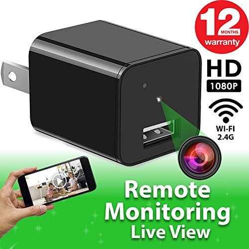 Spy Camera - WiFi Remote View - Hidden Camera - HD 1080P - Premium Wireless Camera - Motion...