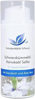 Naturprodukte Schwarz - Schwarzkümmelöl-Kanukaöl Salbe, 100ml