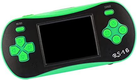 kesoto Mini Handheld Game Console, 260 Classic Retro Game Machine with 2.5Inch LCD Screen Portable Video Games, Green
