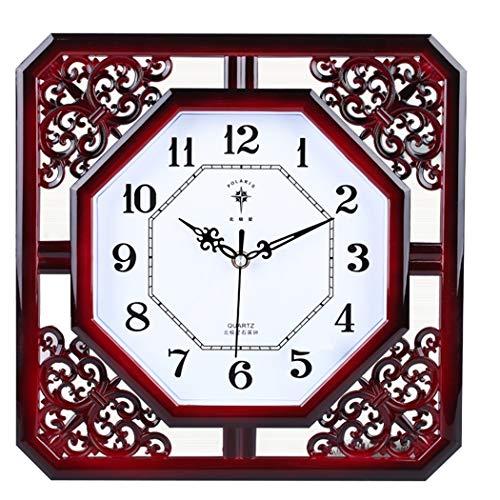 S.W.H Reloj de pared de cuarzo silencioso cuadrado grande, r