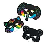 Magic Scratch Paper Animal Masks - Scratch Art - Crafts for Kids and Fun Home Activities