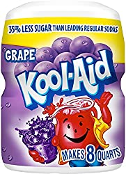 Kool-Aid Grape Drink Mix, 19 Ounce Canister