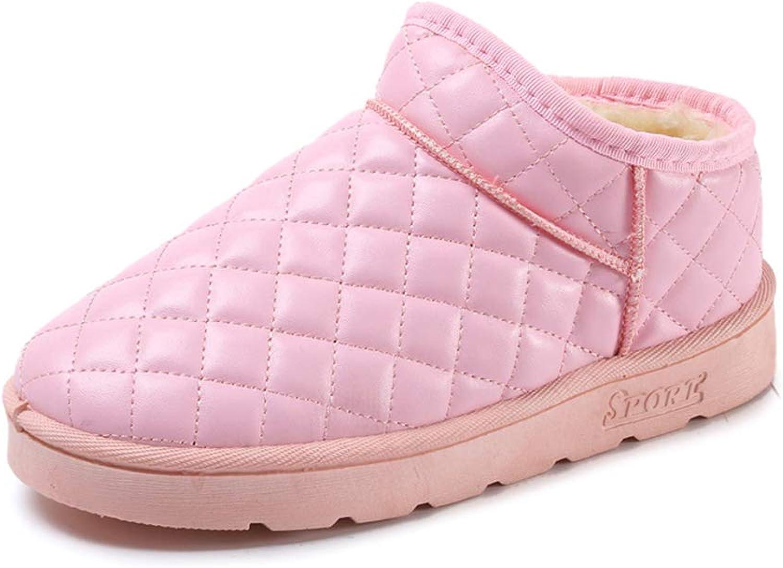KAOKAOO Women Winter Plus Low Heeled Velvet Non-Slip Cotton shoes