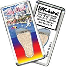 "product image for Long Beach""FootWhere"" Souvenir Fridge Magnet (LB204 - Harbor)"