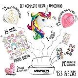Wowparty Decoración Cumpleaños Unicornio, 133 pcs Decoración Fiesta Infantil, 29...