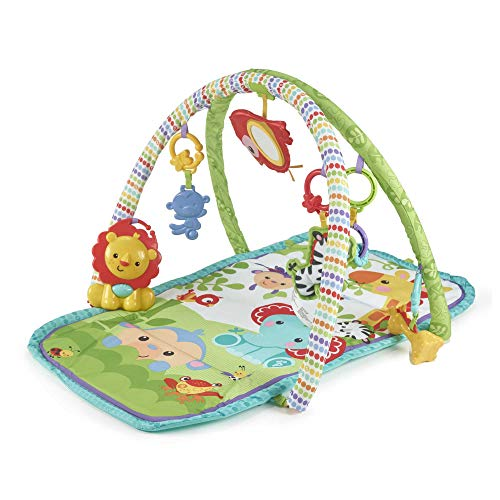 Fisher-Price 3-in-1 Musical Rainforest Activity Gym, baby playmat with toys, music and lights