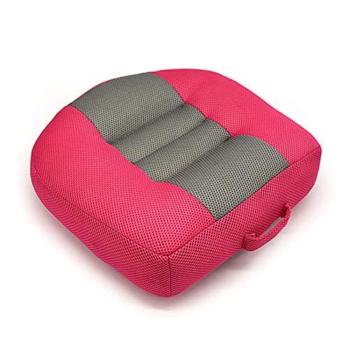 XinLuMing Almohada de Asiento de automóvil, Asiento Elevador para niños Adultos, Almohada de Silla Alta, Aumento de Asiento (Color : Pink)
