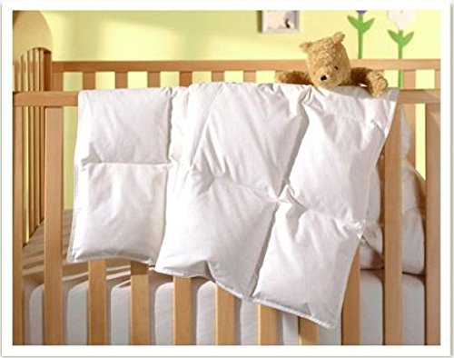 Mackenza White Down Baby Comforter
