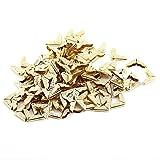 Protector de Esquina de Libro de Metal 100 piezas Esquina de lbum Esquina de Tringulo de Estilo Retro