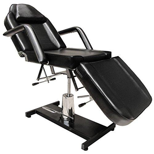 Eyepower 360° Massagestuhl Kosmetikstuhl Kosmetikliege Behandlungsliege Schwarz